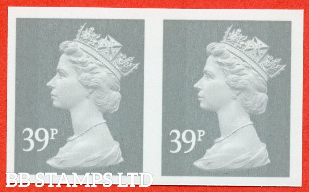 "SG. Y1709 a. 39p grey. A superb UNMOUNTED MINT "" IMPERF "" error horizontal pair."