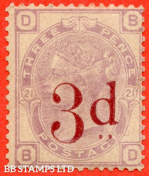 "SG. 159. K8A. "" BD "". 3d on 3d lilac. A fine UNMOUNTED MINT example."