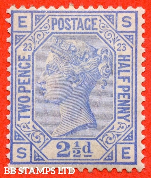 "SG. 157. J25. "" SE "". 2½d blue. Plate 23. A super UNMOUNTED MINT example."