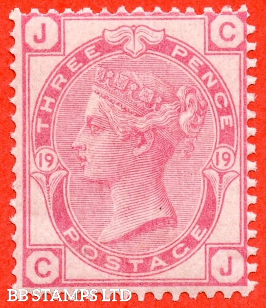 "SG. 143. J43. "" CJ "". 3d rose plate 19. A fine UNMOUNTED MINT example."