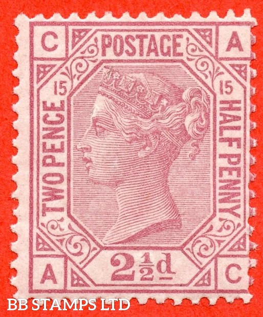 "SG. 141. J16. "" AC "". 2½d rosy mauve. Plate 15. A very fine UNMOUNTED MINT example."