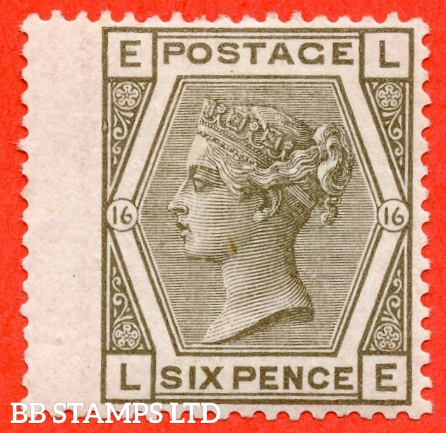 """SG. 147. J86. """" LE """" 6d Grey plate 16. A very fine lightly mounted example."""