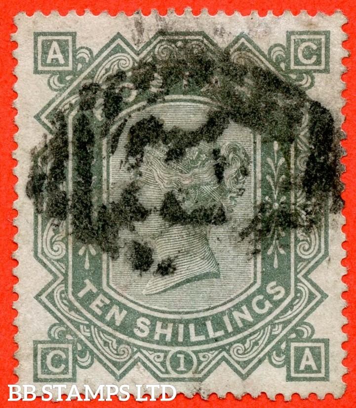"SG. 135. J125 a. "" CA "". 10/- greenish grey. A good used example."