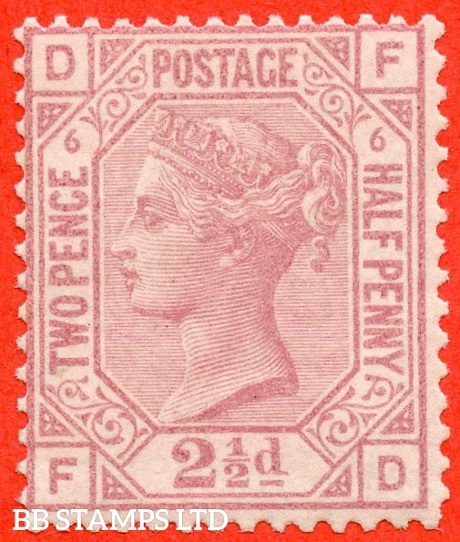 "SG. 141. J7. "" FD "". 2½d rosy mauve. Plate 6. A fine UNMOUNTED MINT example."