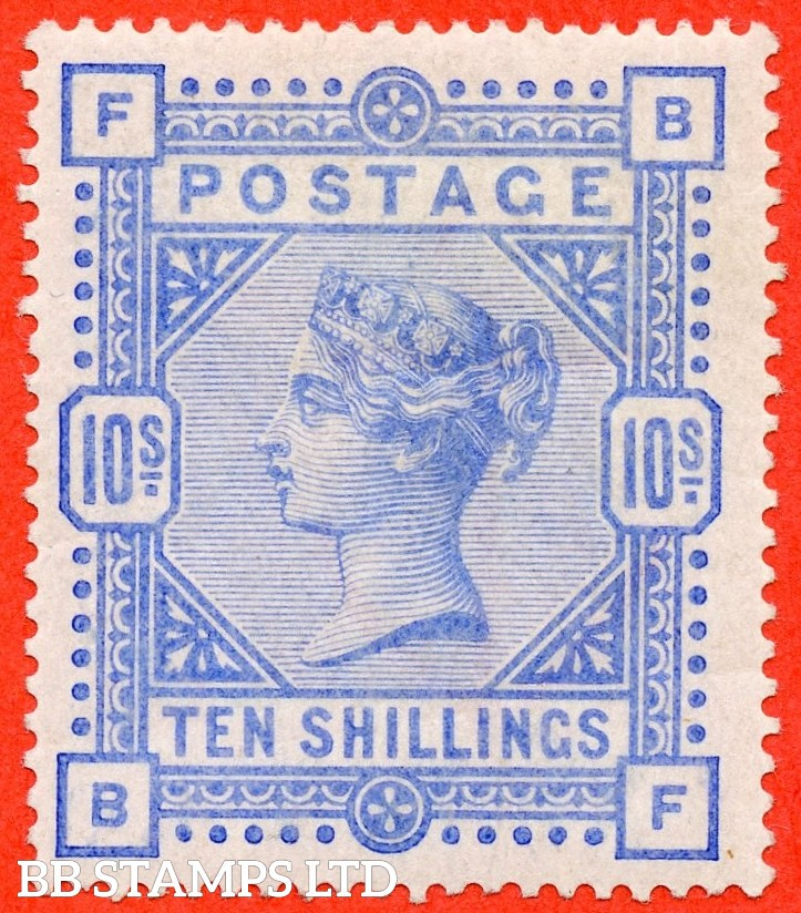 "SG. 183. K14 (2). "" BF "". 10/- ultramarine. A very fine UNMOUNTED MINT example."