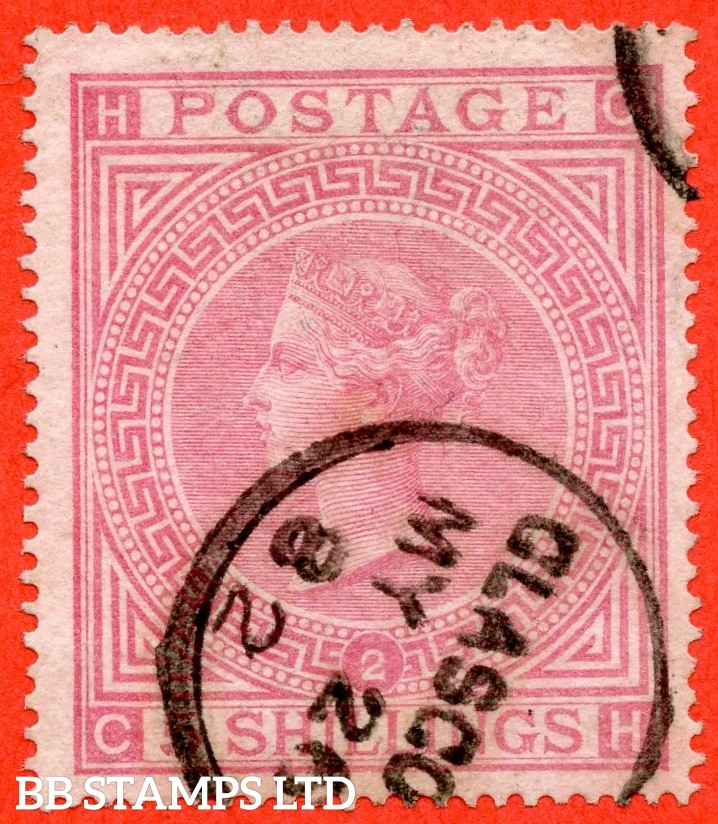 "SG. 127. J122. "" CH "". 5/- Pale rose. Plate 2. A fine "" 26th May 1882 GLASGOW "" CDS used example with a clear profile."