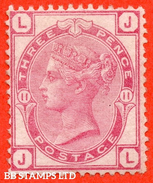 "SG. 144. J36. "" JL "". 3d pale rose plate 11. A very fine UNMOUNTED MINT example."