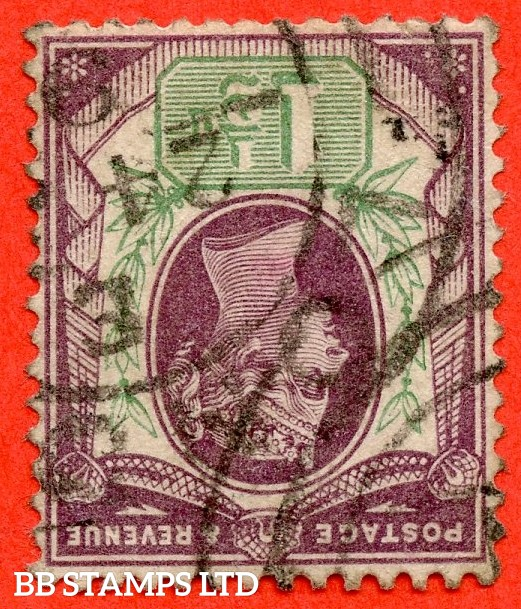 SG. 198 wi. K29 (2) b. 1½d dull purple & pale green. INVERTED WATERMARK. A fine used example.