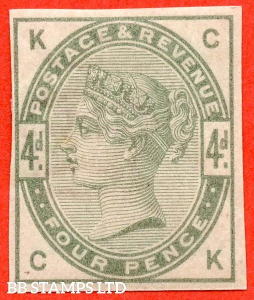 "SG. 192. K22. "" CK "". 4d dull green. IMPRIMATUR. A fine mounted mint example."