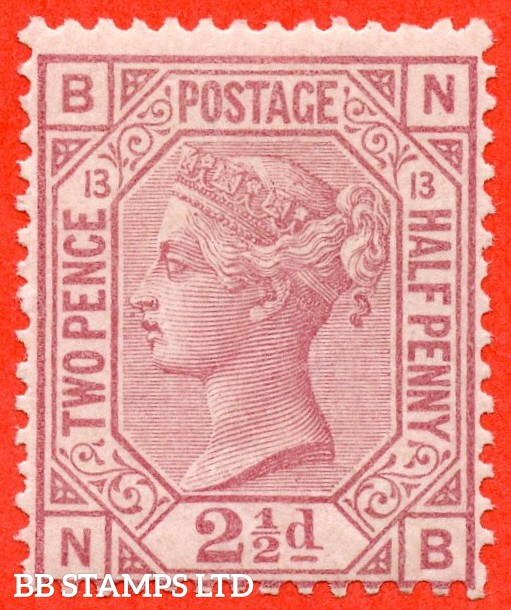 "SG. 141. J14. "" MF "". 2½d rosy mauve. Plate 13. A very fine UNMOUNTED MINT example."