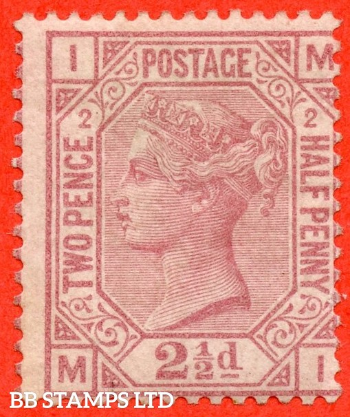 "SG. 139. J2. "" MI "". 2½d rosy mauve. Plate 2. A fine mounted mint example."
