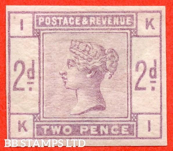 "SG. 189. K19. "" KI "". 2d Lilac. Plate 2. IMPRIMATUR. A fine mounted mint example."