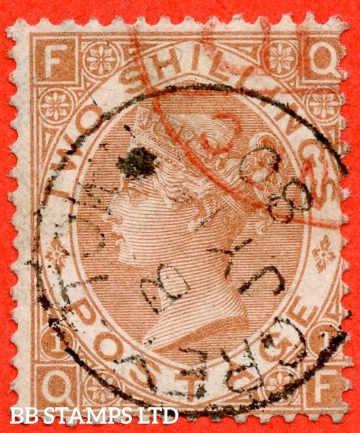 "SG. 121. "" QF "". 2/- Brown. A SUPERB used example cancelled by a very fine "" Grey - Town "" CDS, a very difficult stamp in this grade. Complete with BPA certificate."