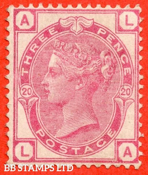 "SG. 158. J45. "" LA "". 3d  Rose. Plate 20. A fine mounted mint example."