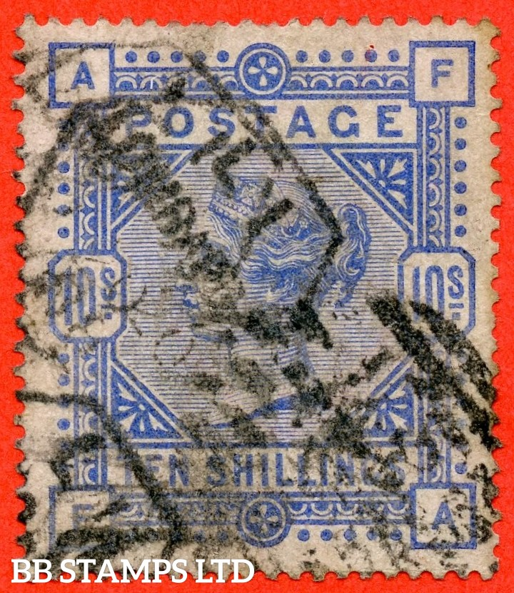 "SG. 182. K14 (1). "" FA "". 10/- Cobalt. A good used example with minor faults but an excellent spacefiller."