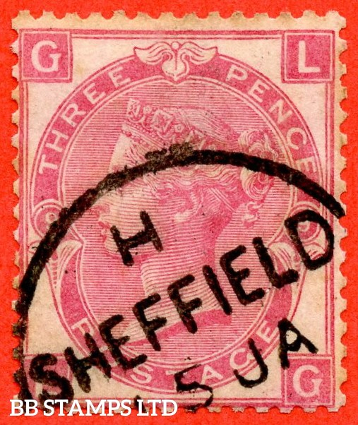 """SG. 103. J34. """" LG """" 3d Rose plate 9. A fine """" January 5th SHEFFIELD """" CDS used example."""