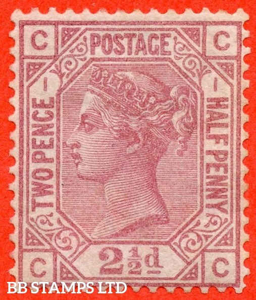 """SG. 139. J1. """" CC """". 2½d rosy mauve. Plate 1. A very fine mounted mint example."""