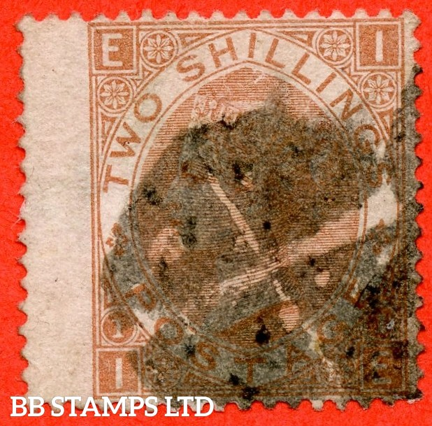 """SG. 121. J120. """" IE """". 2/- Brown. A good used example of this scarce Victorian issue."""