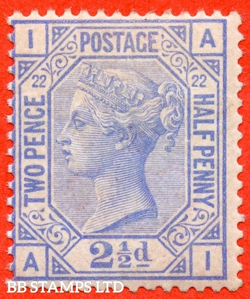 """SG. 157. J24. """" AI """". 2½d blue. Plate 22. A super UNMOUNTED MINT example."""