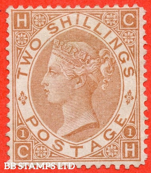 """SG. 121. J120. """" CH """". 2/- Brown. An average mint example example of this scarce Victorian issue. A great way to fill that expensive gap."""