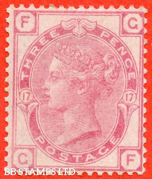 """SG. 144. J41. """" GF """". 3d rose plate 17. A fine mounted mint example."""