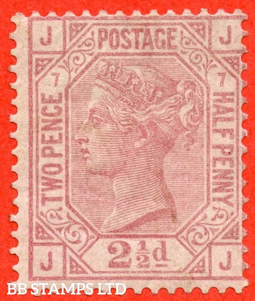 """SG. 141. J8. """" JJ """". 2½d rosy mauve. Plate 7. A very fine mounted mint example complete with RPS certificate."""
