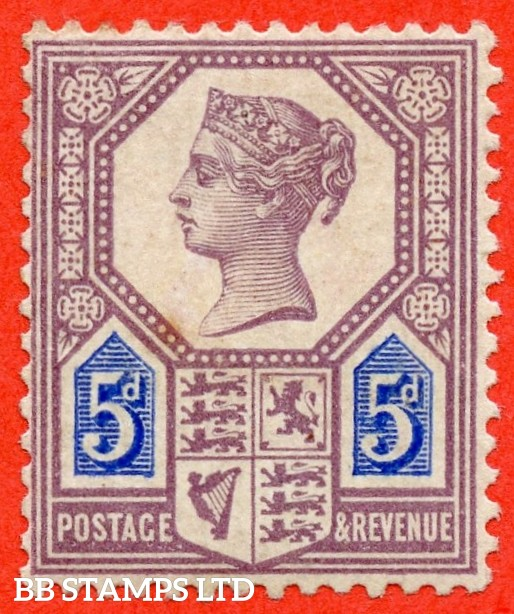 SG. 207. K35. 5d Dull Purple & Blue ( Die 1 ). A very fine UNMOUNTED MINT example of this very scarce Jubilee issue.