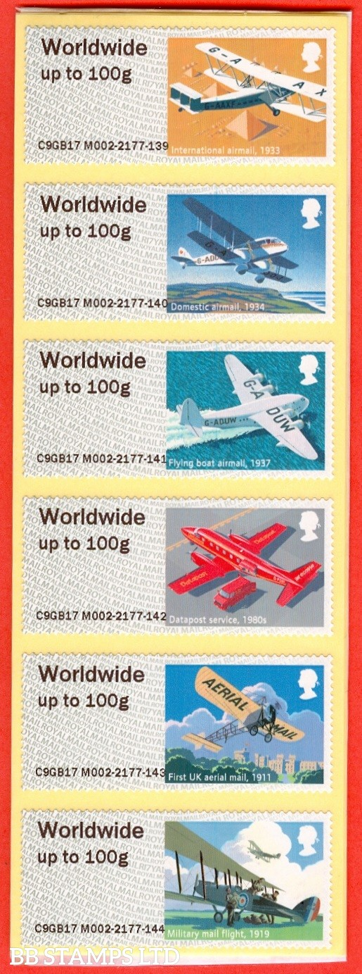 Heritage: Mail By Air 1st - W/Wide 100g Type IIIA R17 (set of 36)