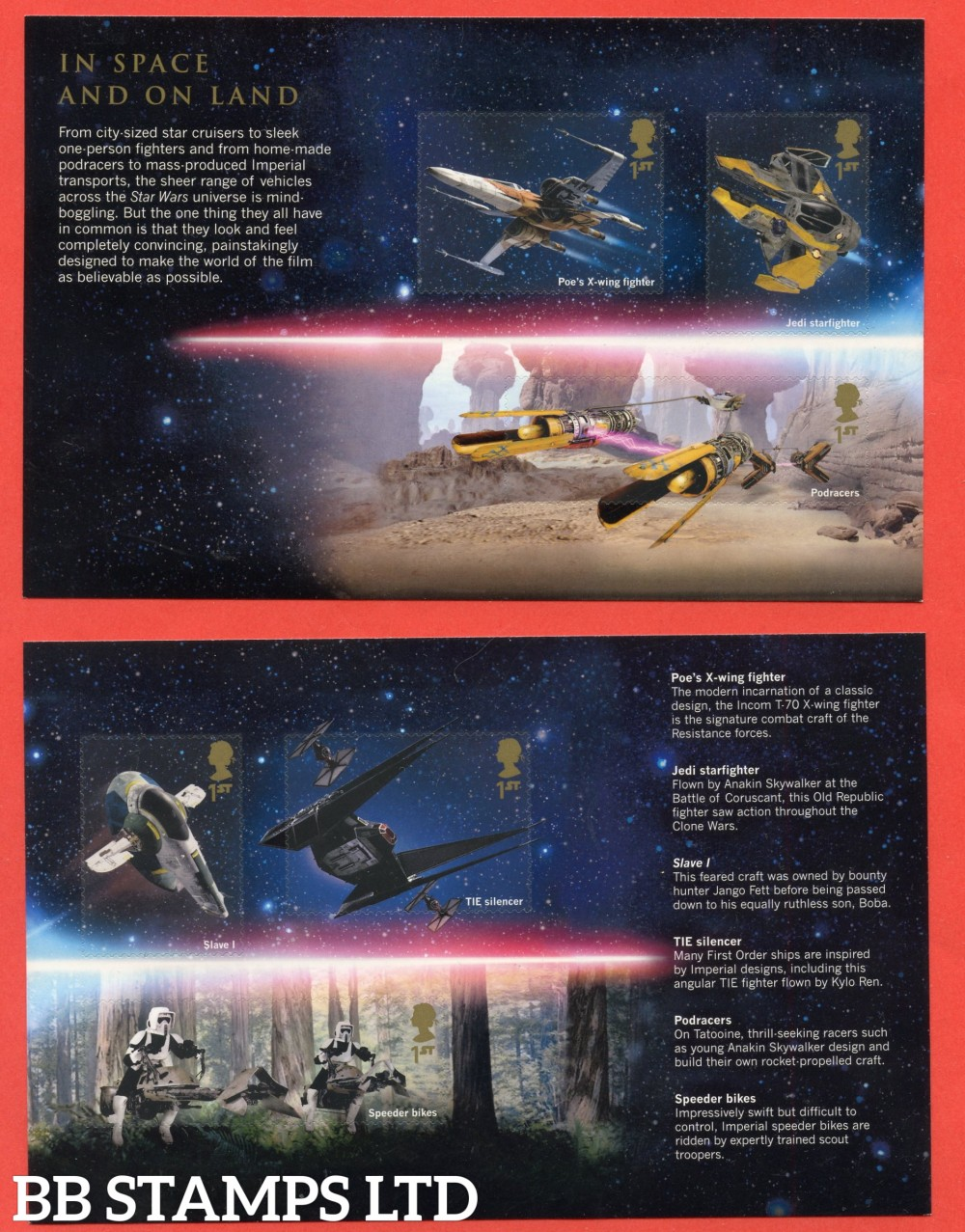 2019 Star Wars Split M/S from DY31-2nd issue ( Panes 2 & 3 ) ( 2 Panes ) includes  6 stamps SG 4306,4307,4308.4309,4310,4311 (26.11.19)