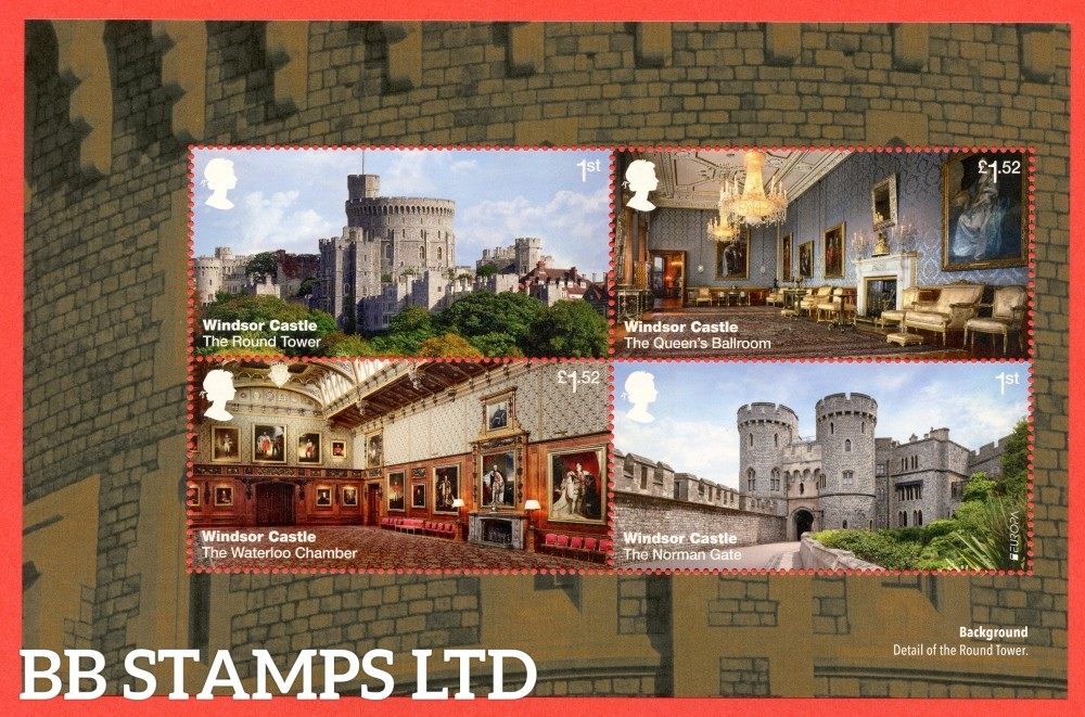 1st Class and £1.52 x 2 Commemorative's From DY20 ( Windsor Castle ) ( Pane 1 )