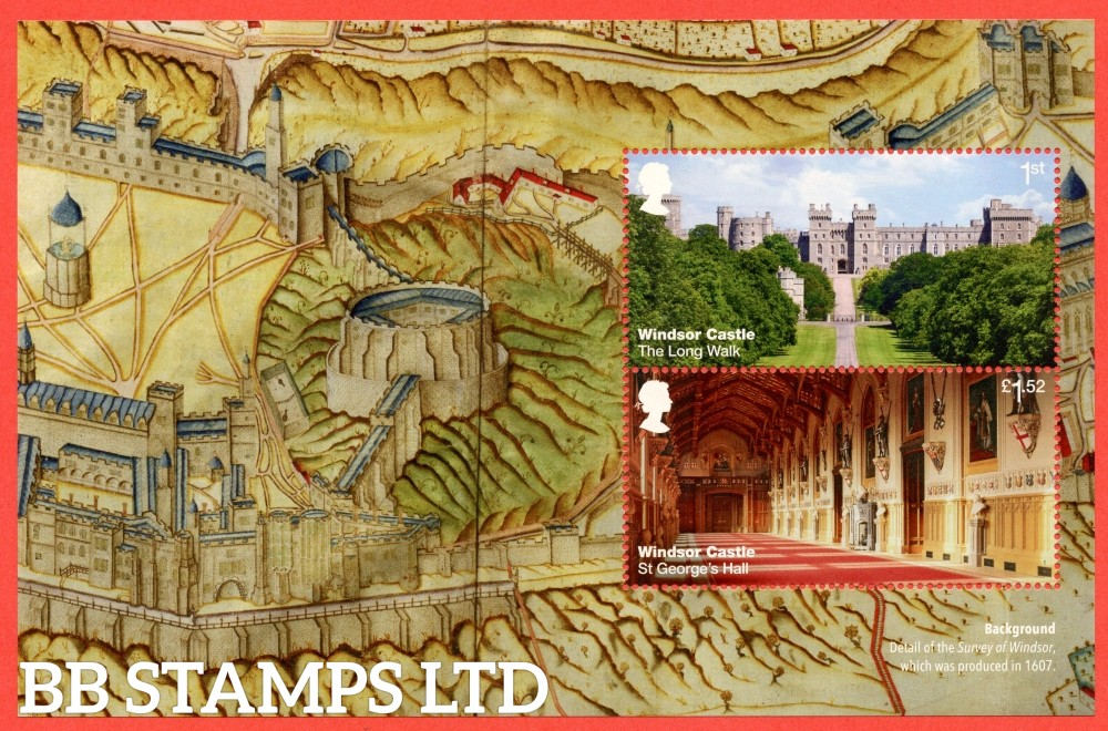 1st Class and £1.52 Commemorative's From DY20 ( Windsor Castle ) ( Pane )