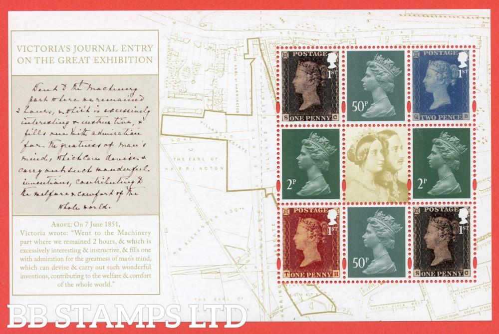 2019 4 x 1st Commemorative's & 2p x 2, 50p x 2 Machin From DY30 ( SG. 3808a, 3809b, 3807b U3071, U3077 ) ( Queen Victoria ) ( Pane 2 ): Printed by ISP Cartor (FSC C100572) Litho
