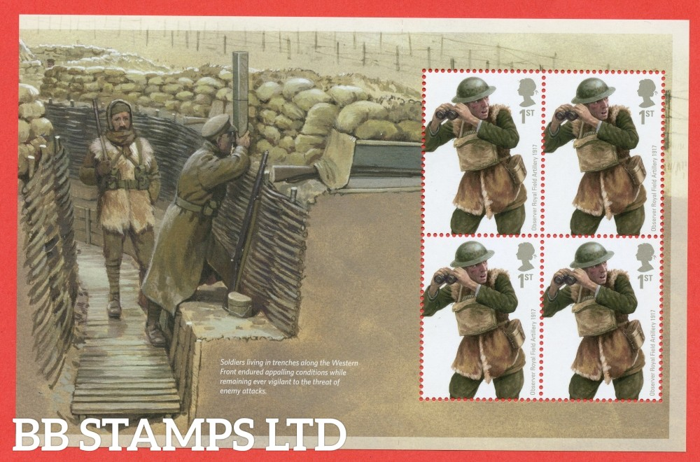 1st Class x 4 Commemorative's From DY13 ( The Great War 15 ) ( Pane 1 )