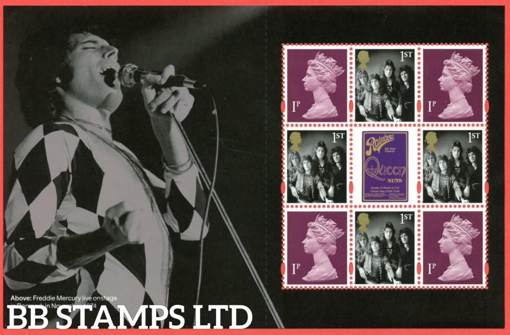 2020 Queen Definitive Pane from DY35 (Pane 4) 09.07.20 (contains 4 x 1p ) M20L MPIL-4 x 1st