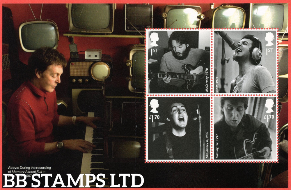 2021 Paul McCartney (Pane 3) from DY37 (3rd Issue?) (28.05.21)