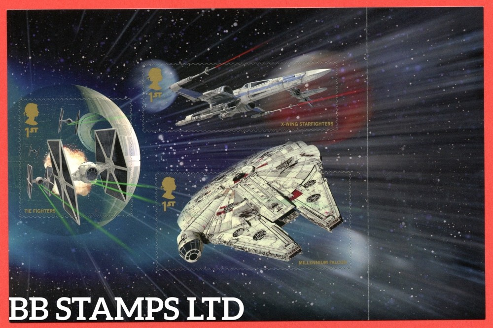 1st Class x 3 Commemorative's From DY15 ( Star Wars ) ( Pane 3 )