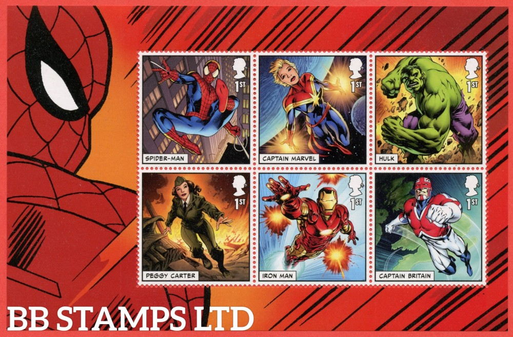 2019 6 x 1st Class commemorative From DY29 ( SG. 4182 / 4184 & 4186 / 4188 ) ( Marvel ) ( Pane 2 )