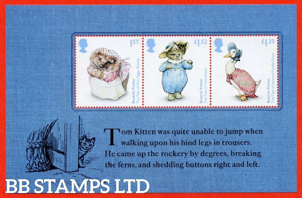 1st Class, £1.33 and £1.52 Commemorative's From DY19 ( Beatrix Potter ) ( Pane 3 )