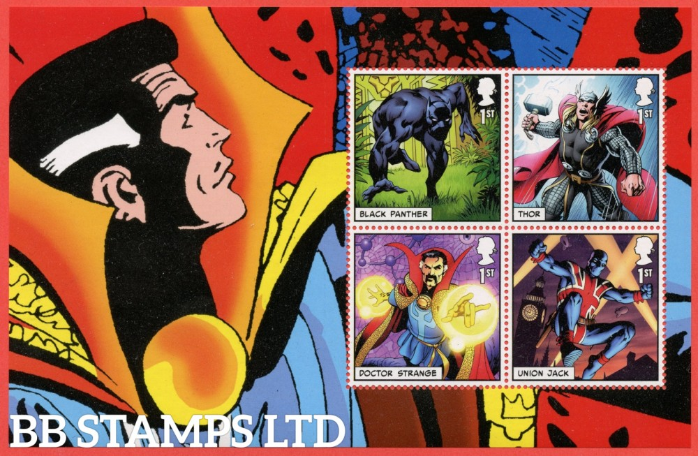 2019 4 x 1st Class commemorative From DY29 ( SG. 4185, 4189 / 4191 ) ( Marvel ) ( Pane 1 )