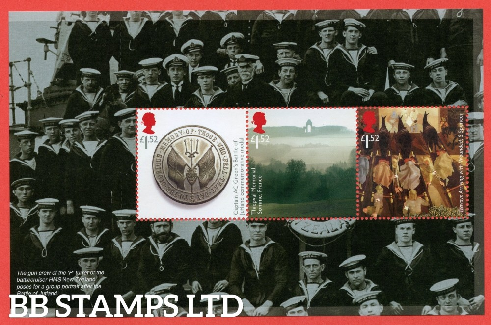 £1.52 x 3 Commemorative's From DY18 ( Great War 16 ) ( Pane 3 )