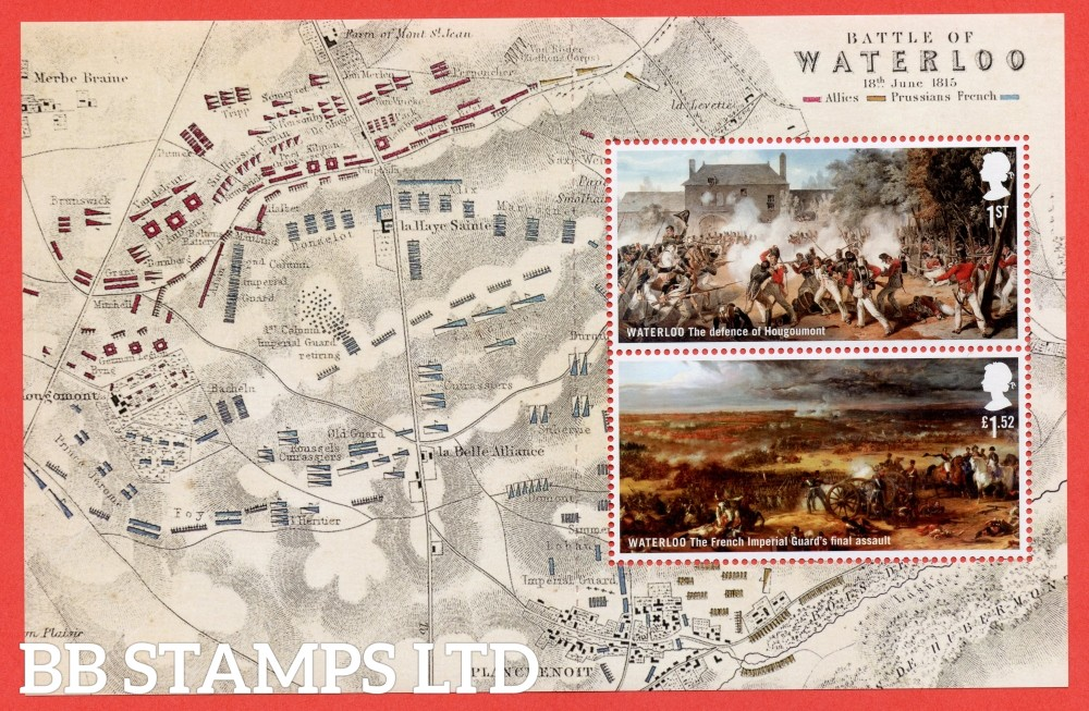 1st Class and £1.52 Commemorative's From DY14 ( Battle of Waterloo ) ( Pane 3 )