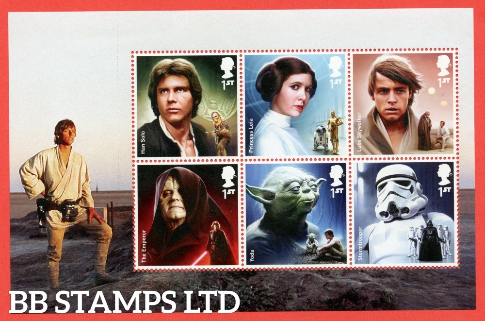 1st Class x 6 Commemorative's From DY15 ( Star Wars ) ( Pane 5 )