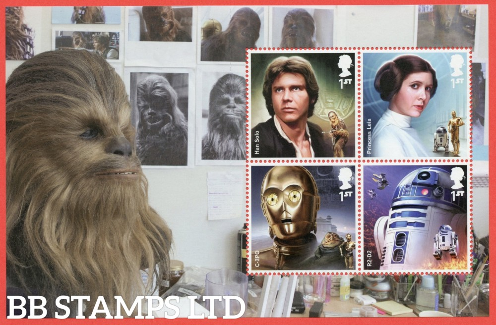 4 x 1st Class Commemerortives's From DY23 ( SG. 3762, 3764, 4012 & 4013. ( Star Wars ) ( Pane 2 )