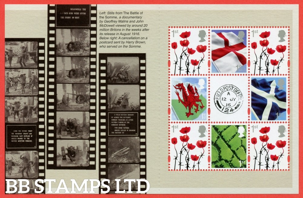 1st Class x 8 Definitives's From DY18 ( Great War 16 ) ( Pane 1 )