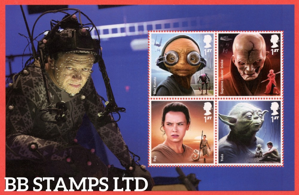 4 x 1st Class Commemerortives's From DY23 ( SG. 3759, 3763, 4007 & 4009. ( Star Wars ) ( Pane 4 )