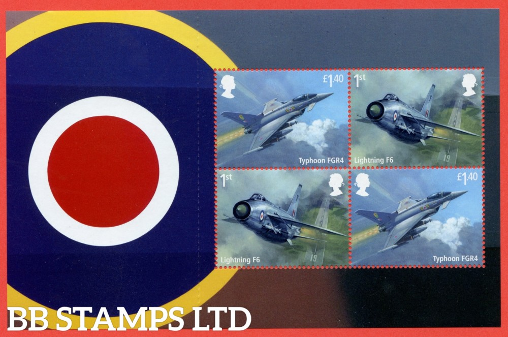 2 x 1st Class & 2 x £1.40 Commemerortives's From DY25 ( 2 x SG. 4058 & 4061 ) ( RAF Centenary ) ( Pane 1 )