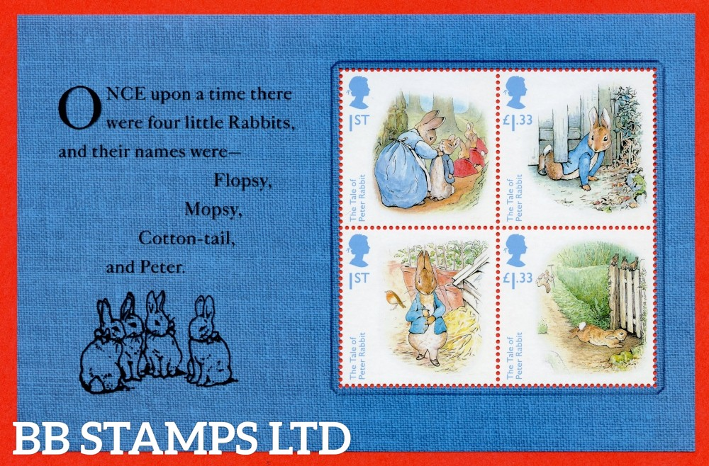 1st Class and £1.33 x 2 Commemorative's From DY19 ( Beatrix Potter ) ( Pane 1 )