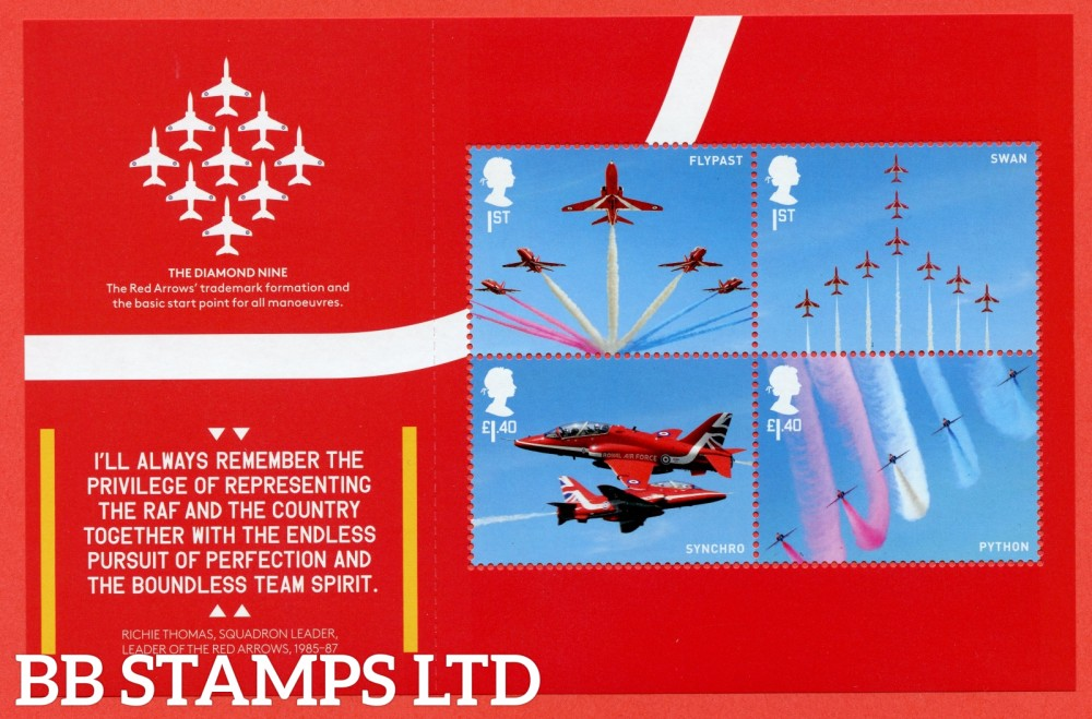 2 x 1st Class & 2 x £1.40 Commemerortives's From DY25 ( SG. 4067 & 4070 ) ( RAF Centenary ) ( Pane 4 )