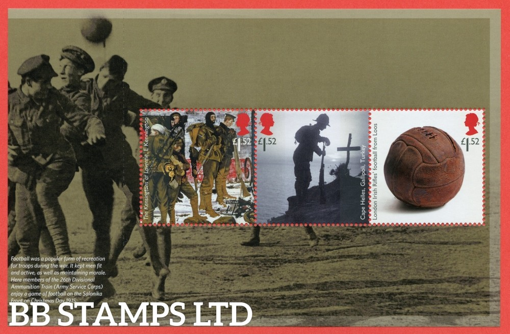 1st Class x 3 Commemorative's From DY13 ( The Great War 15 ) ( Pane 3 )