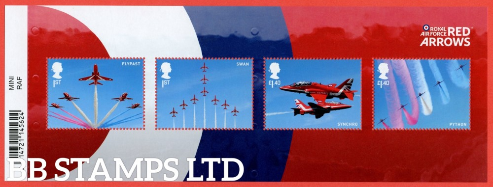 2018 The RAF Centenary: 100 Years of RAF Minisheet - WITH BARCODE